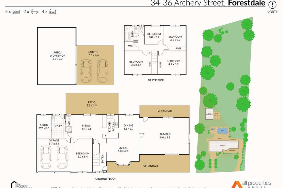 Floorplan of Homely house listing, 34-36 Archery Street, Forestdale QLD 4118
