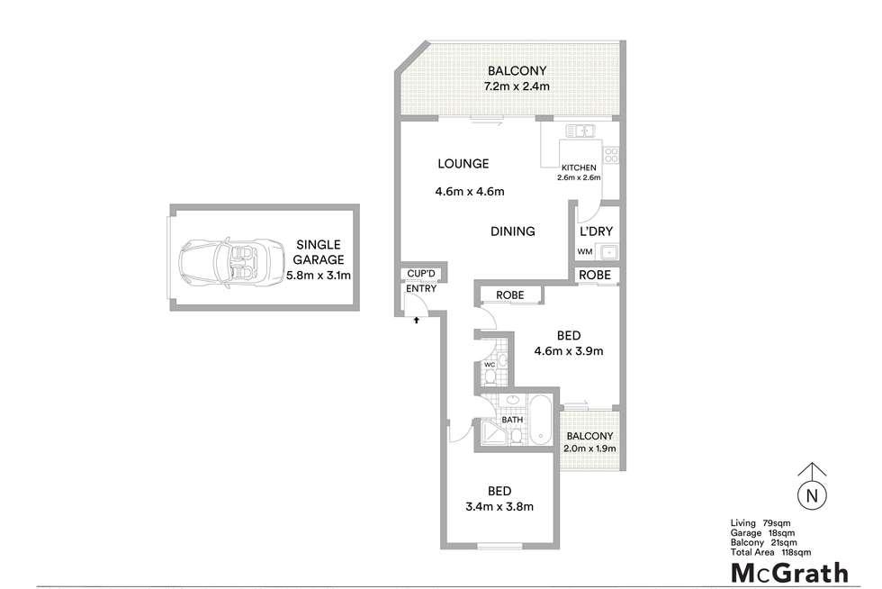 Floorplan of Homely unit listing, 29/62 Fullagar Road, Wentworthville NSW 2145