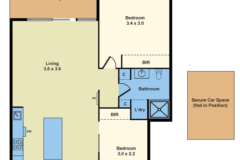 Floorplan of Homely apartment listing, 12/130 Victoria Street, Seddon VIC 3011