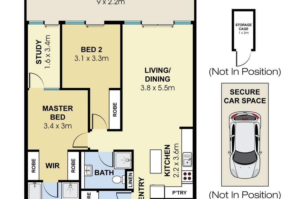 Floorplan of Homely apartment listing, 15/567 Sydney Road, Seaforth NSW 2092