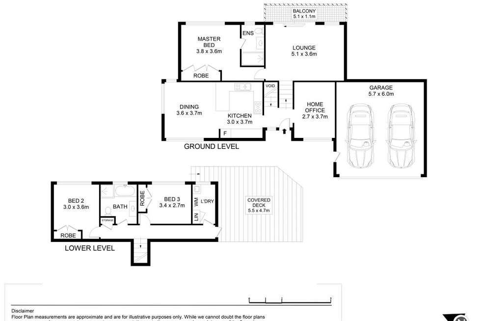 Floorplan of Homely townhouse listing, 25/54 King Road, Hornsby NSW 2077