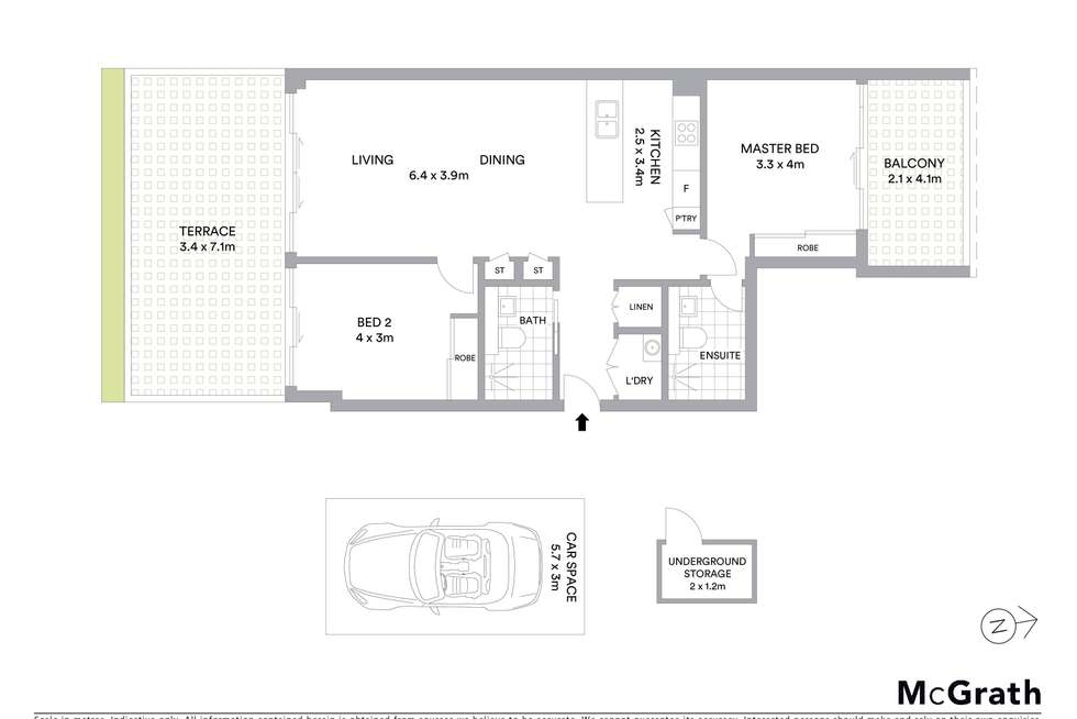 Floorplan of Homely apartment listing, 576/16 Oaks Avenue, Dee Why NSW 2099