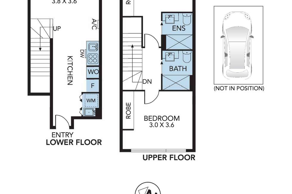 Floorplan of Homely apartment listing, 103/82 Cade Way, Parkville VIC 3052