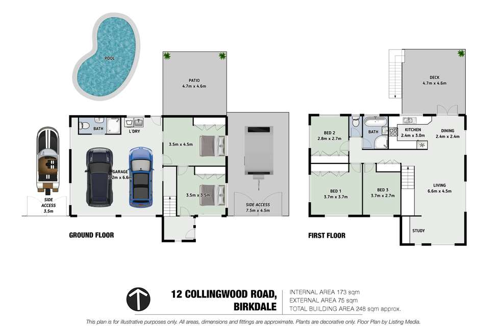 Floorplan of Homely house listing, 12 Collingwood Road, Birkdale QLD 4159