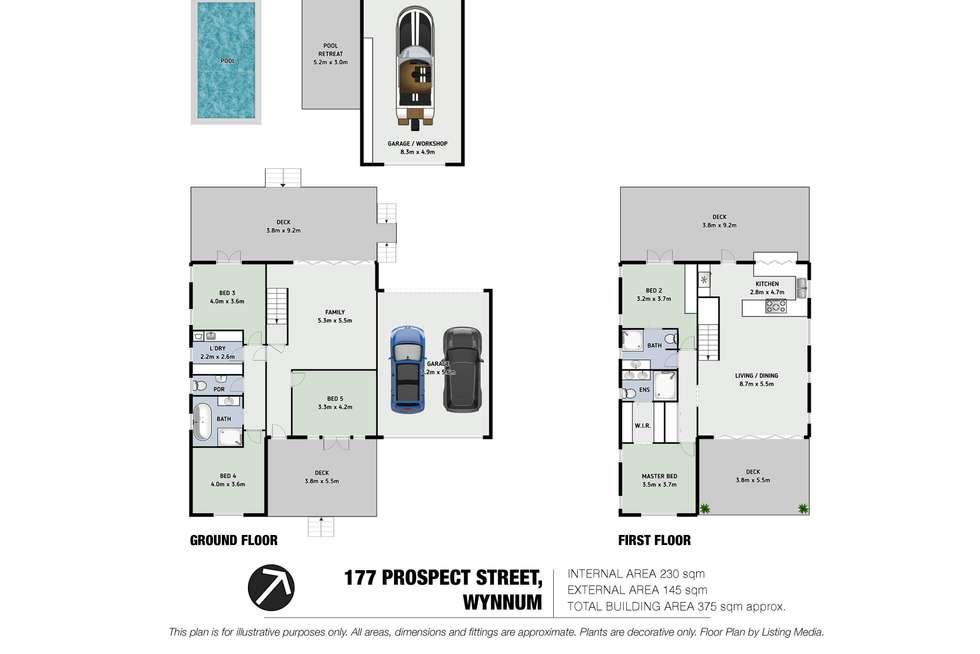 Floorplan of Homely house listing, 177 Prospect Street, Wynnum QLD 4178