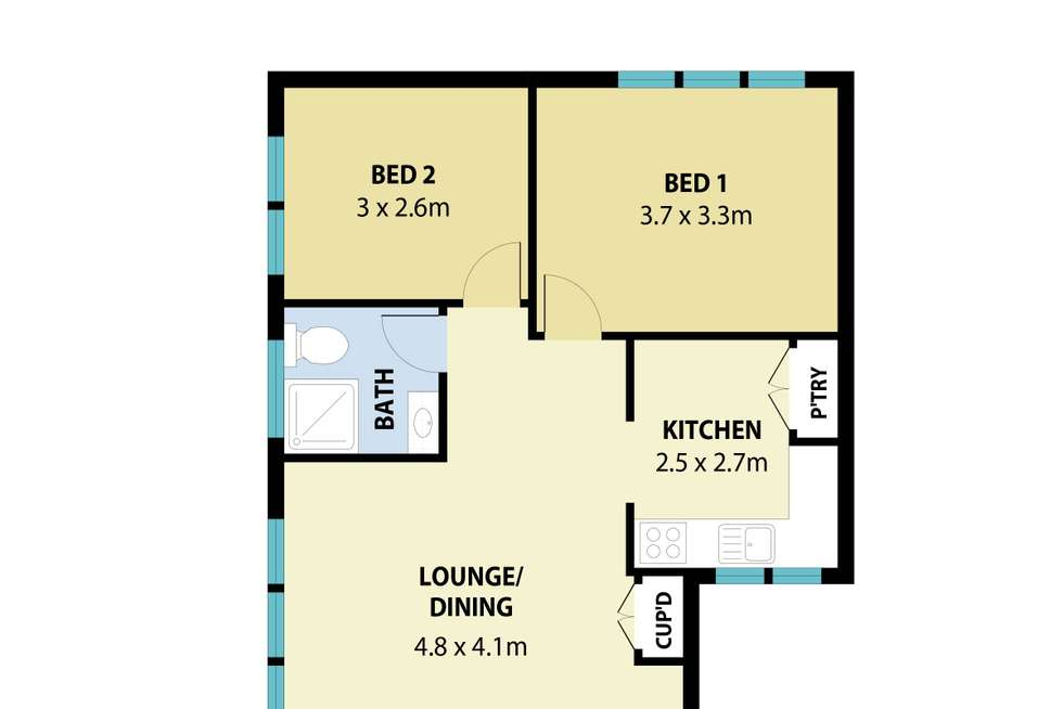 Floorplan of Homely unit listing, 11/11-13 Queens Avenue, Parramatta NSW 2150
