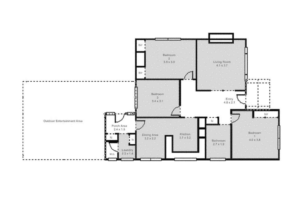 Floorplan of Homely house listing, 16 College Street, Wendouree VIC 3355