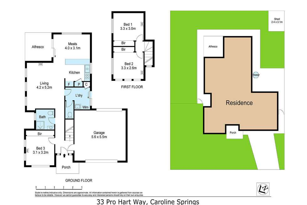Floorplan of Homely house listing, 33 Pro Hart Way, Caroline Springs VIC 3023
