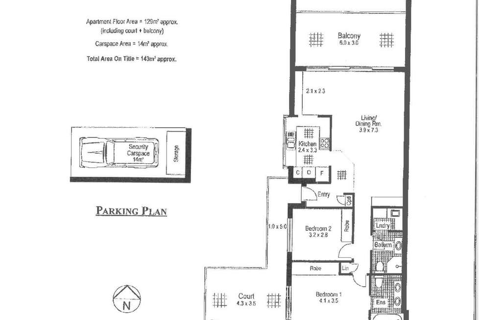 Floorplan of Homely apartment listing, 3/25-27 Grasmere Road, Cremorne NSW 2090