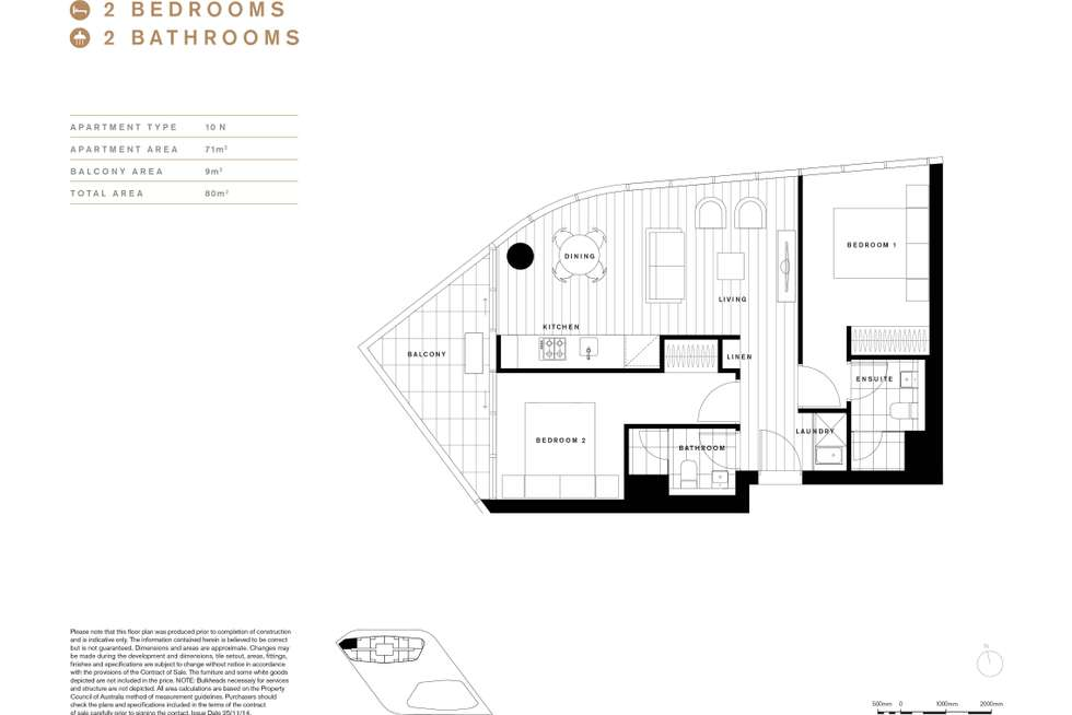 Floorplan of Homely apartment listing, 1610N/889 Collins Street, Docklands VIC 3008