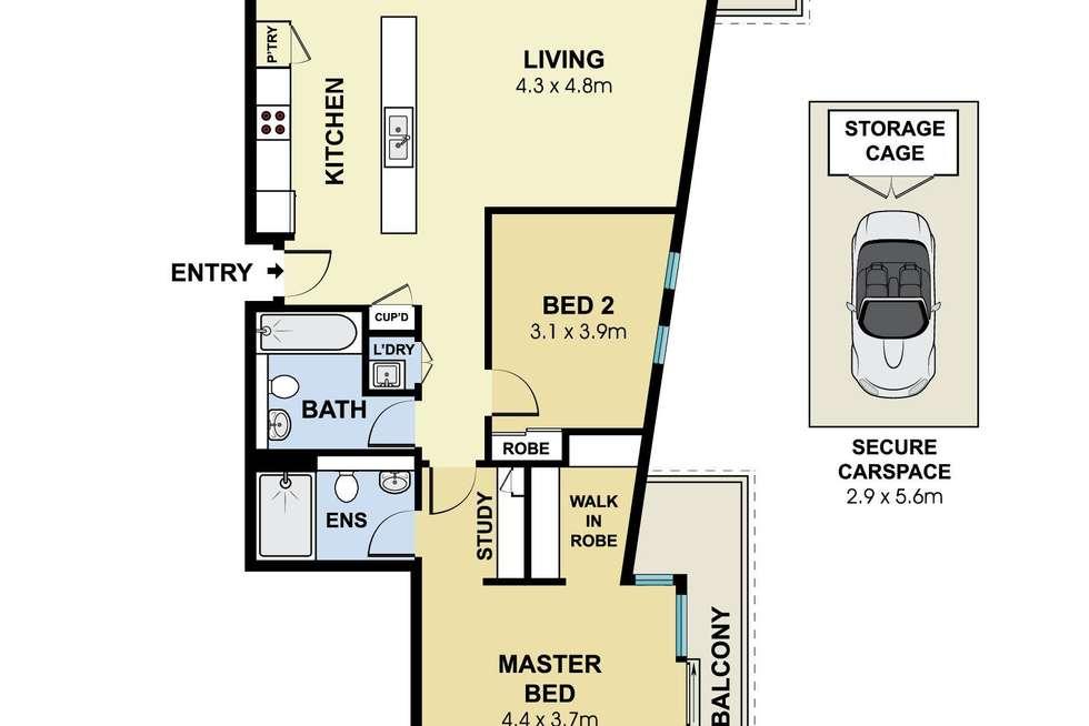 Floorplan of Homely apartment listing, 18/102 Joynton Avenue, Zetland NSW 2017