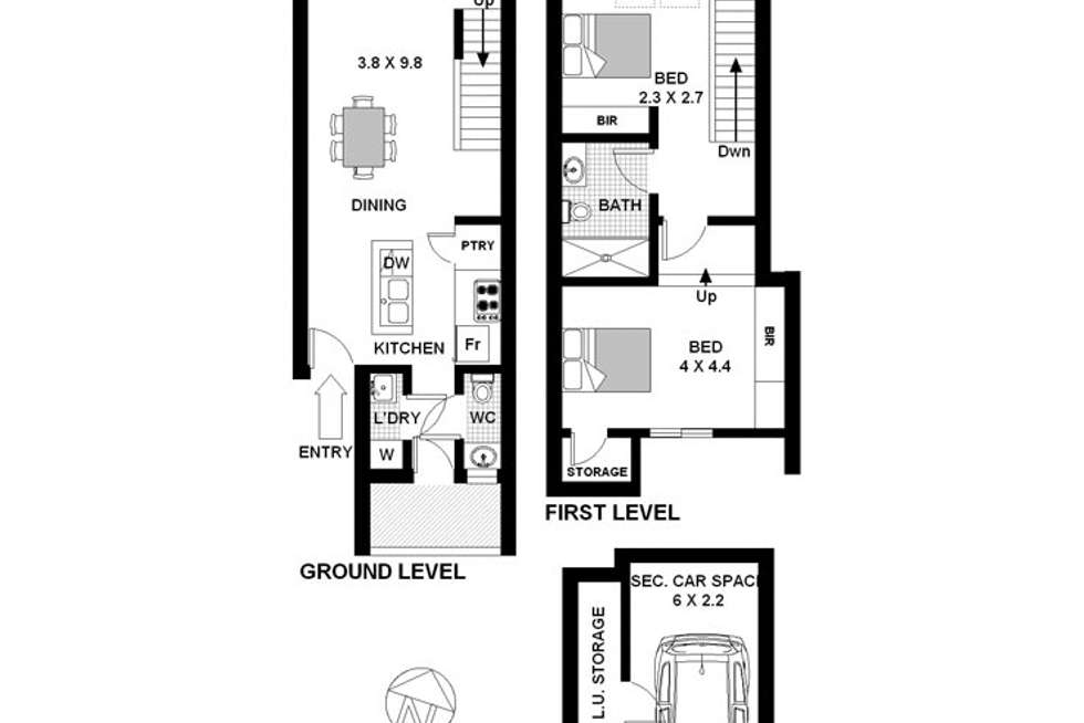 Floorplan of Homely apartment listing, 228 Moore Park Road, Paddington NSW 2021