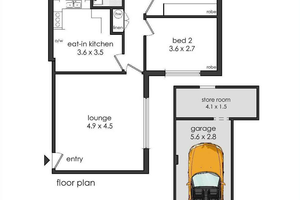 Floorplan of Homely apartment listing, 1/32-38 Queen Victoria Street, Bexley NSW 2207