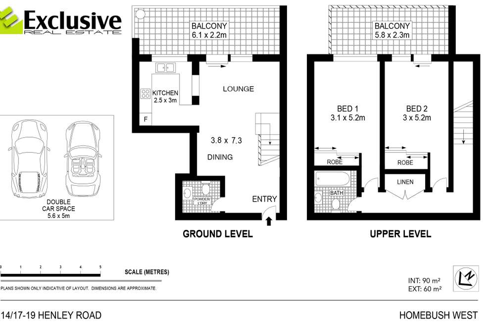 Floorplan of Homely apartment listing, 14/17-19 Henley Road, Homebush West NSW 2140