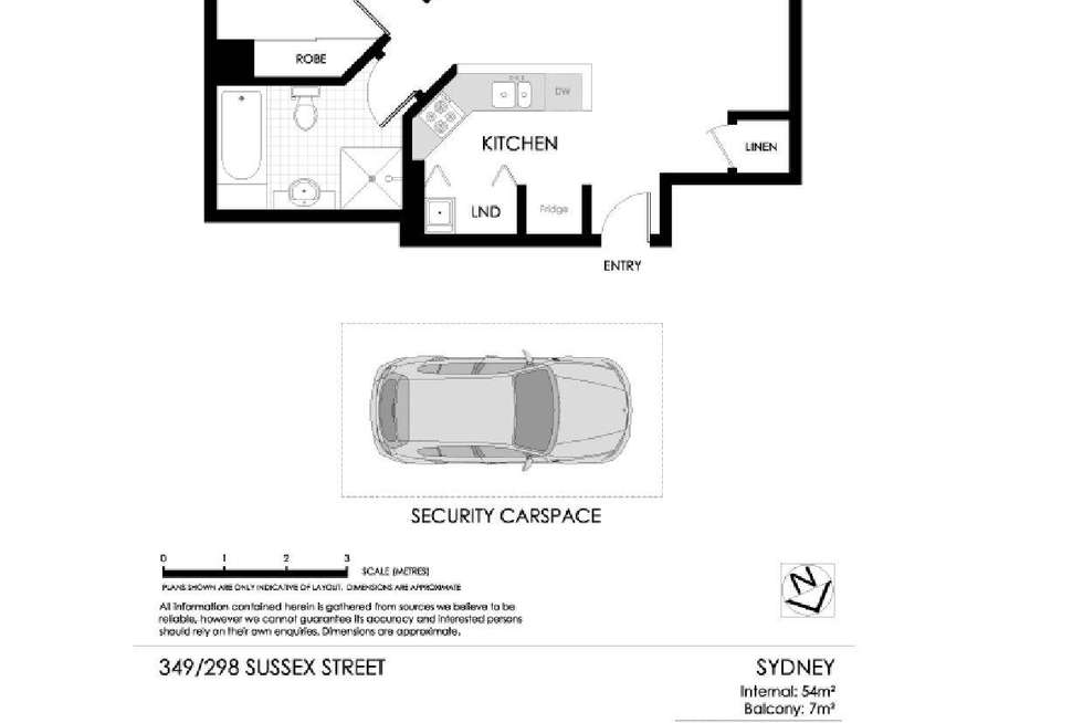 Floorplan of Homely apartment listing, 349/298 Sussex Street, Sydney NSW 2000