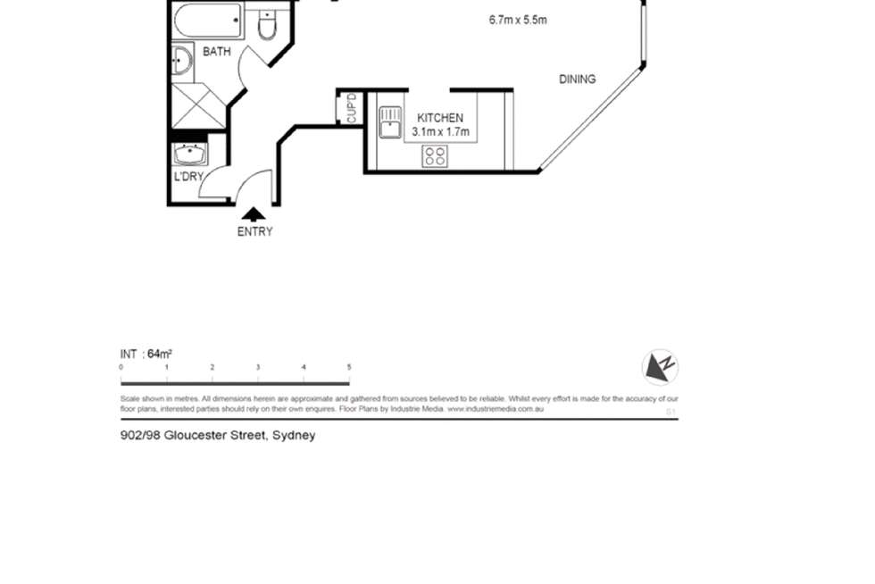 Floorplan of Homely apartment listing, 1802/98 Gloucester Street, Sydney NSW 2000