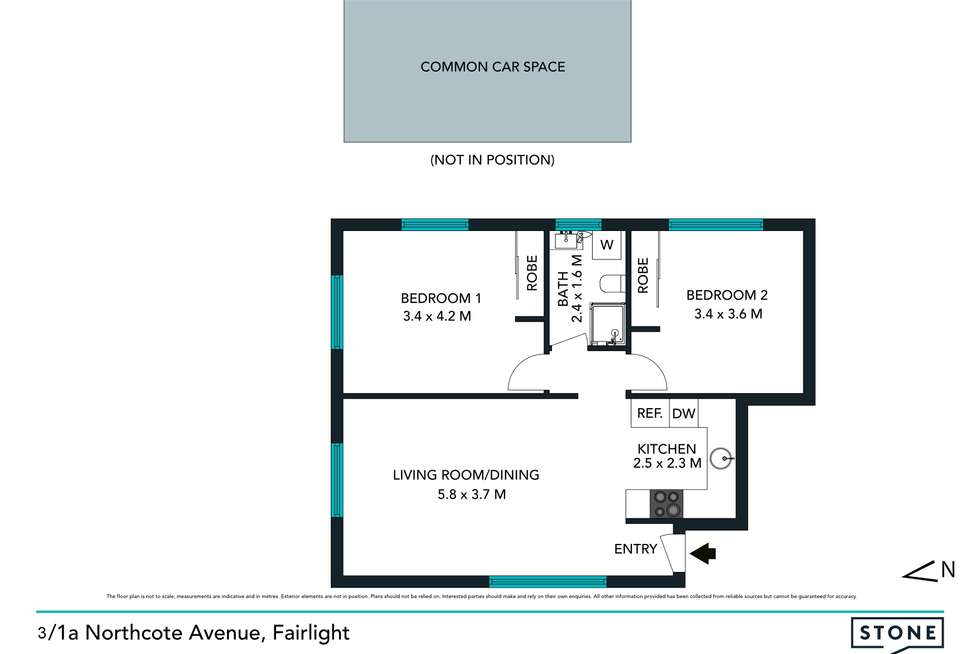 Floorplan of Homely apartment listing, 3/1a Northcote Avenue, Fairlight NSW 2094