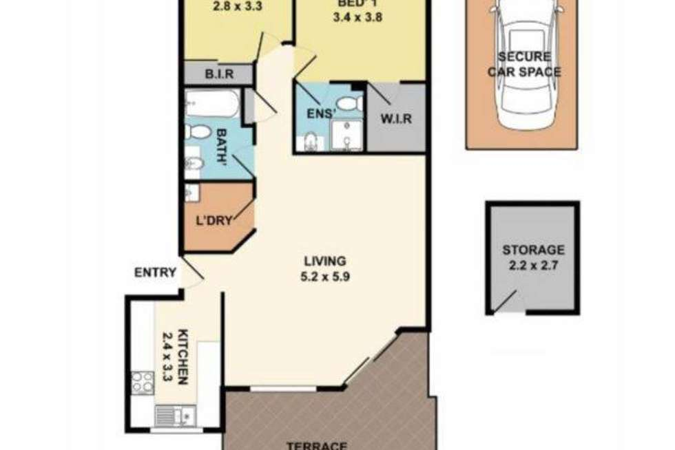 Floorplan of Homely apartment listing, 8/1-5 Linda Street, Hornsby NSW 2077