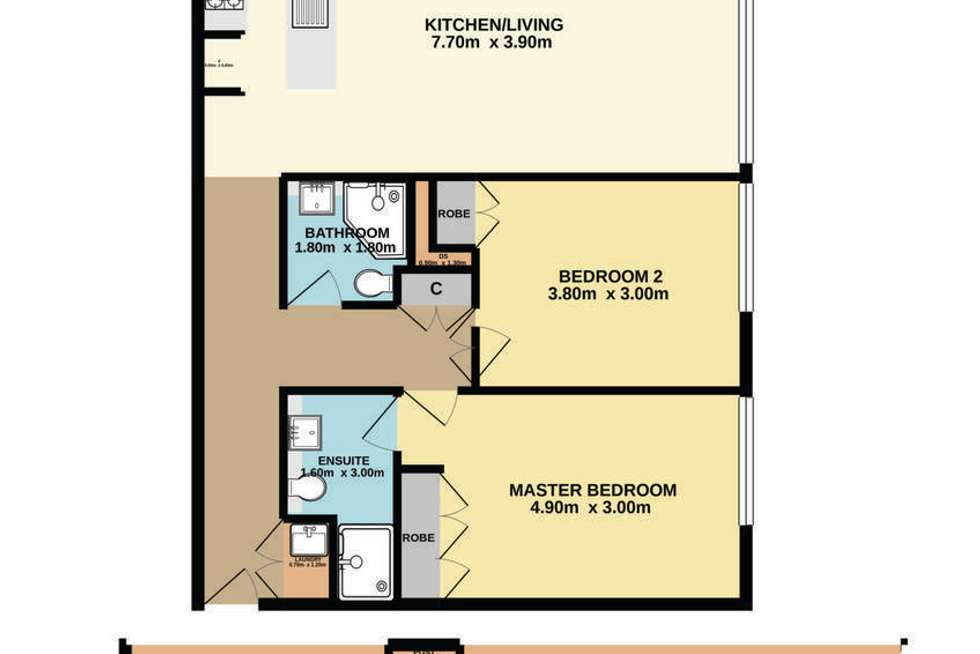 Floorplan of Homely apartment listing, 401/148a Albany Street, Point Frederick NSW 2250