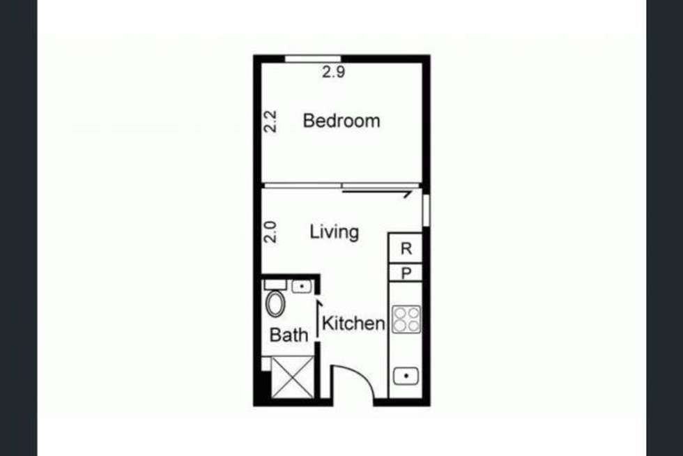 Floorplan of Homely apartment listing, 706/55 Villiers Street, North Melbourne VIC 3051