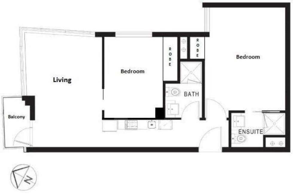 Floorplan of Homely apartment listing, 2106/8 Exploration Lane, Melbourne VIC 3000