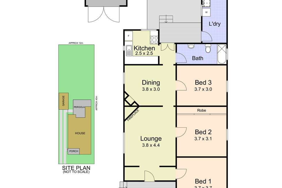 Floorplan of Homely house listing, 18 Glossop Street, New Lambton NSW 2305