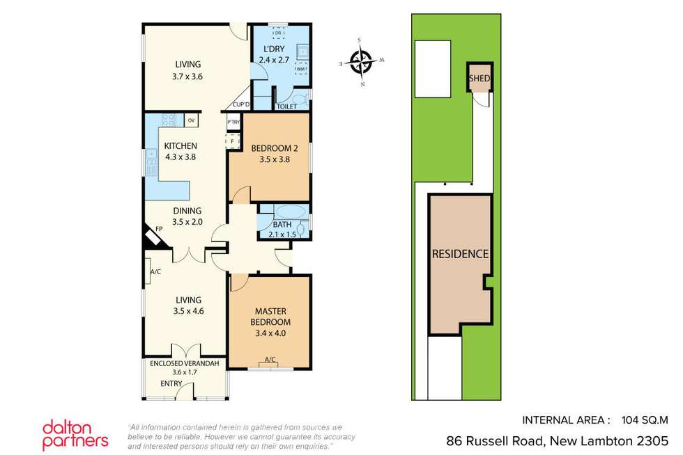 Floorplan of Homely house listing, 86 Russell Road, New Lambton NSW 2305