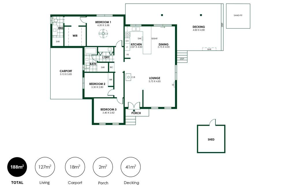 Floorplan of Homely house listing, 19 Mais Street, Nairne SA 5252
