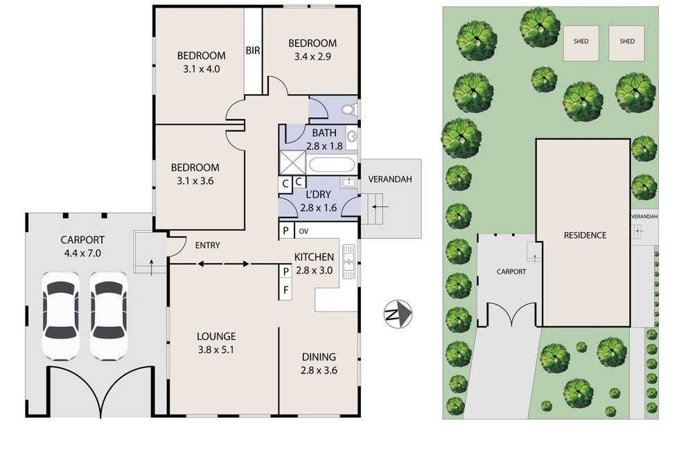 Floorplan of Homely house listing, 2 Empress Court, Sunshine West VIC 3020