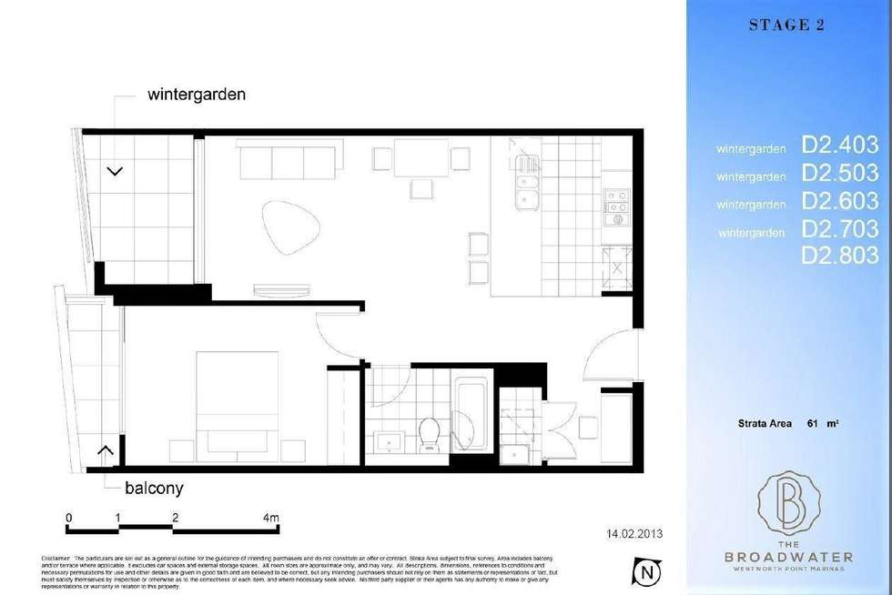 Floorplan of Homely apartment listing, 603/53 Hill Road, Wentworth Point NSW 2127