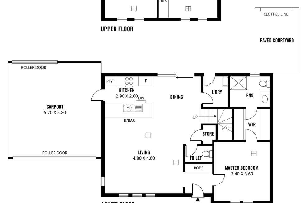 Floorplan of Homely townhouse listing, 2/60 Flaxmill Road, Morphett Vale SA 5162