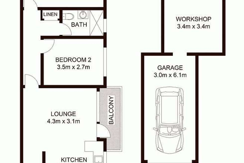 Floorplan of Homely unit listing, 15/4 Union Street, West Ryde NSW 2114