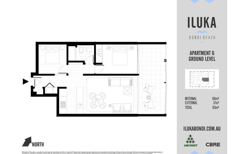 Floorplan of Homely apartment listing, 6/108 Curlewis Street, Bondi Beach NSW 2026