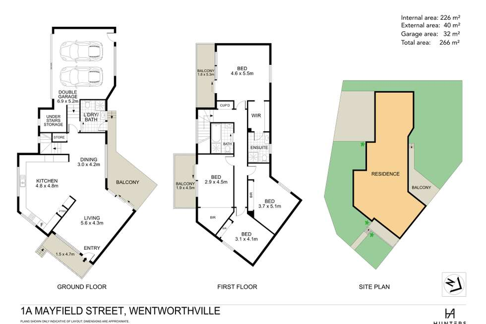 Floorplan of Homely semiDetached listing, 1A Mayfield Street, Wentworthville NSW 2145