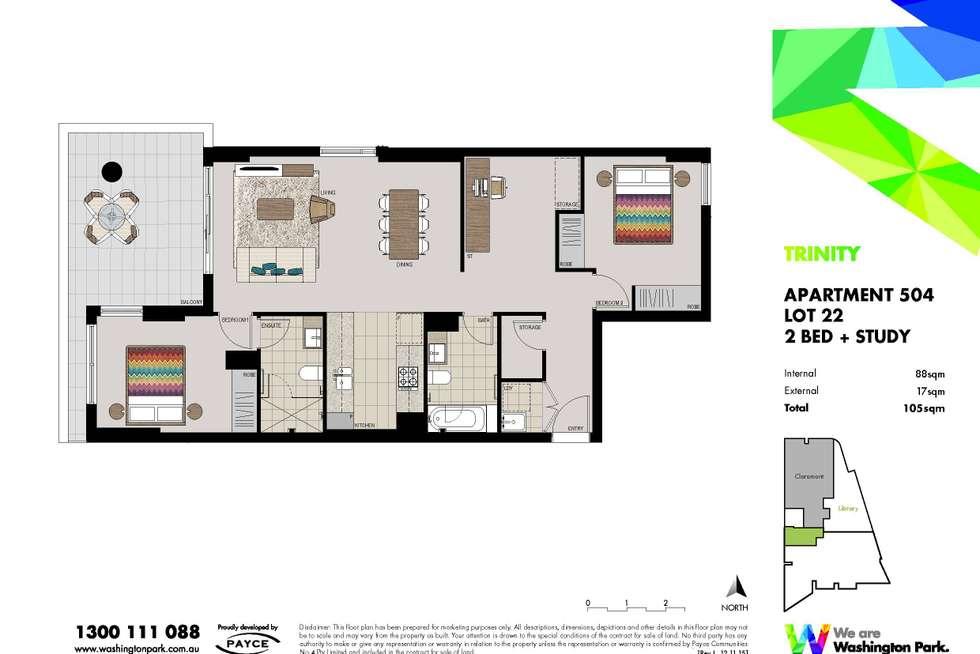 Floorplan of Homely apartment listing, 504/11A Washington Avenue, Riverwood NSW 2210