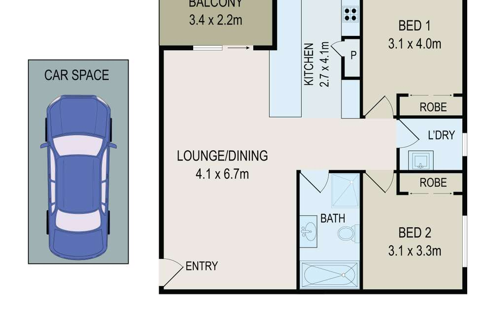 Floorplan of Homely unit listing, 8/449-451 Guildford Road, Guildford NSW 2161