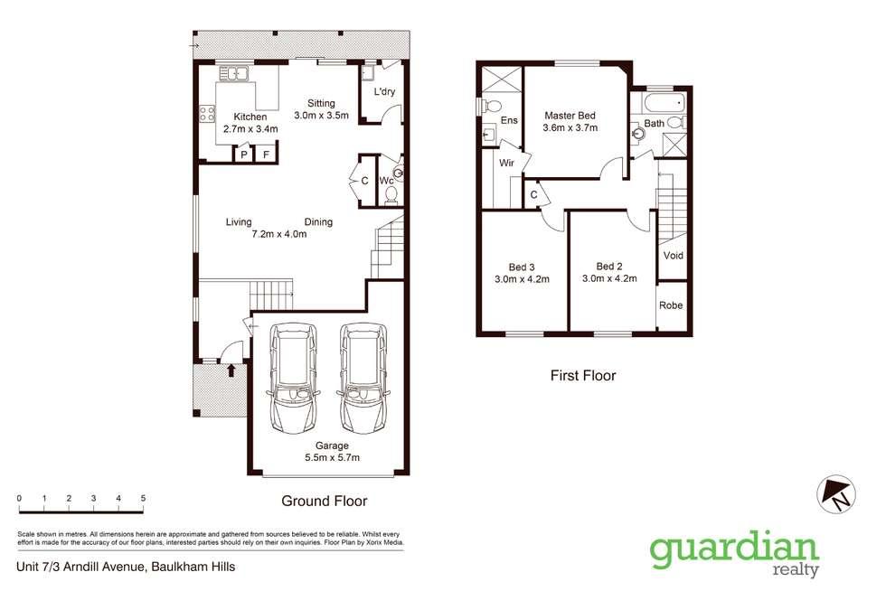 Floorplan of Homely townhouse listing, 7/3-9 Arndill Avenue, Baulkham Hills NSW 2153