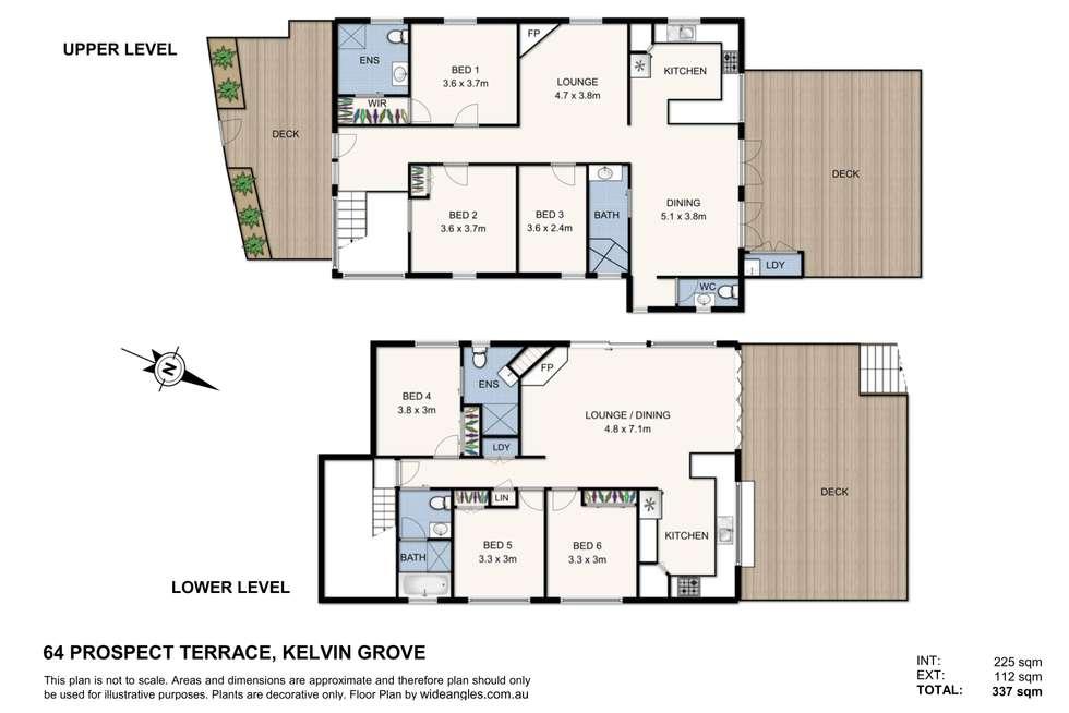 Floorplan of Homely house listing, 64 Prospect Terrace, Kelvin Grove QLD 4059