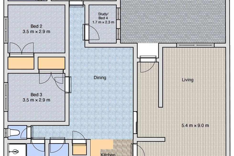Floorplan of Homely house listing, 9 Haley Crescent, Wodonga VIC 3690