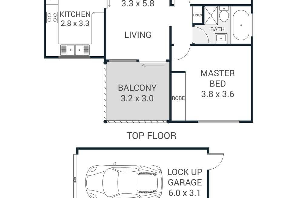 Floorplan of Homely apartment listing, 39/34-40 Edensor Street, Epping NSW 2121