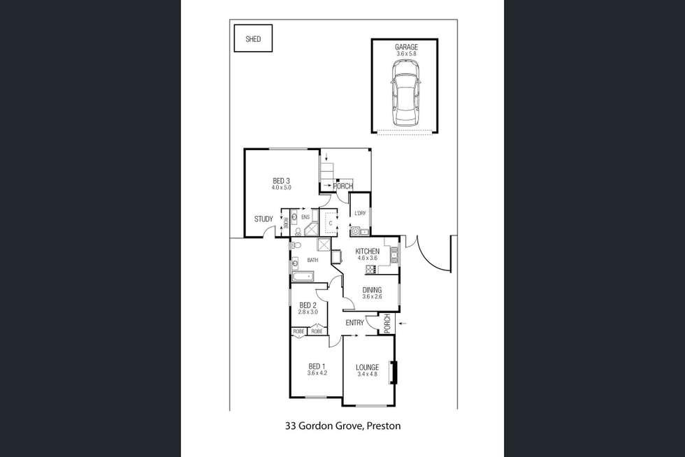 Floorplan of Homely house listing, 33 Gordon Grove, Preston VIC 3072