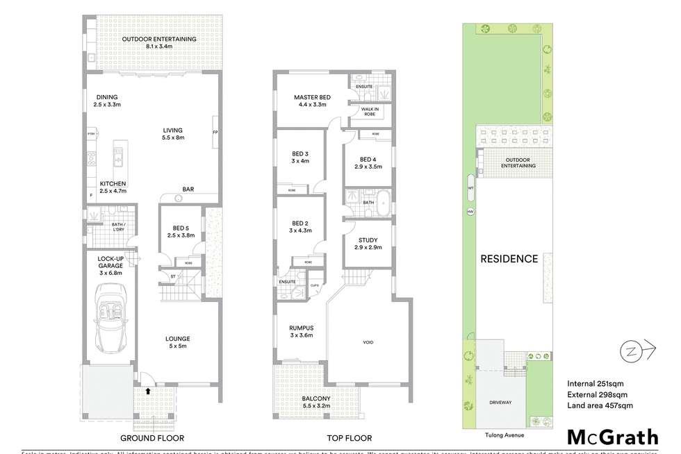 Floorplan of Homely semiDetached listing, 23 Tulong Avenue, Oatlands NSW 2117