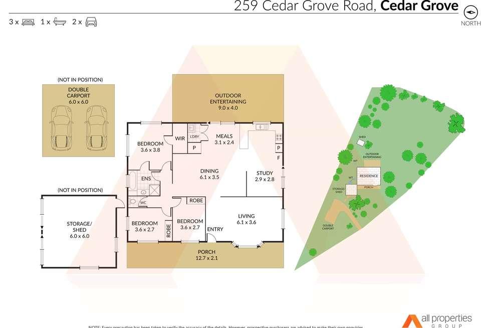 Floorplan of Homely house listing, 259 Cedar Grove Road, Cedar Grove QLD 4285