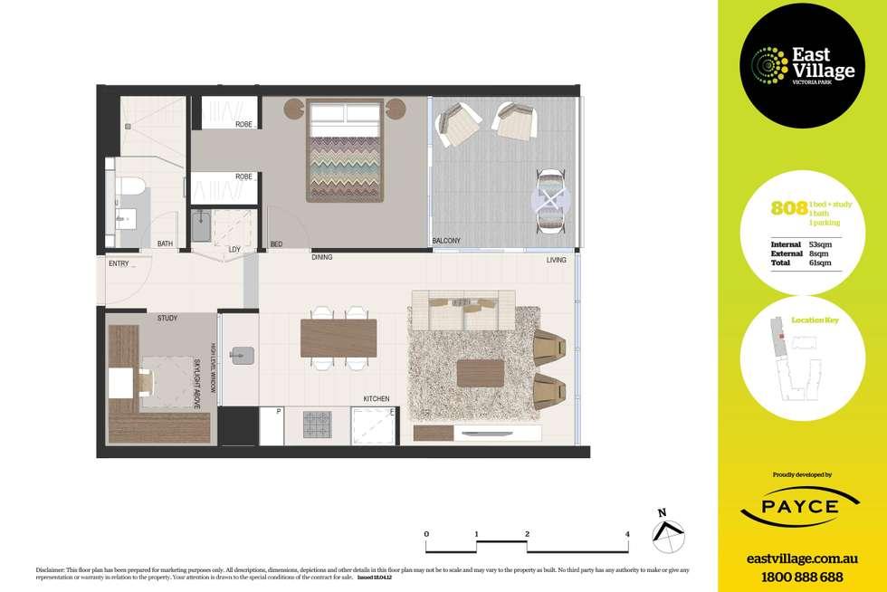 Floorplan of Homely apartment listing, 808/2 Defries Avenue, Zetland NSW 2017