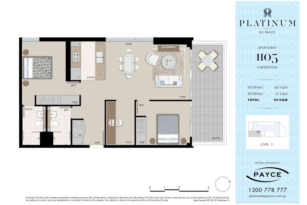 Floorplan of Homely apartment listing, 1105/3 George Julius Avenue, Zetland NSW 2017