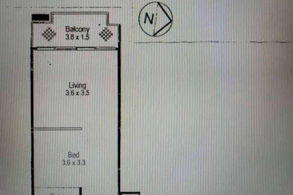 Floorplan of Homely studio listing, 34a/13 Herbert Street, St Leonards NSW 2065