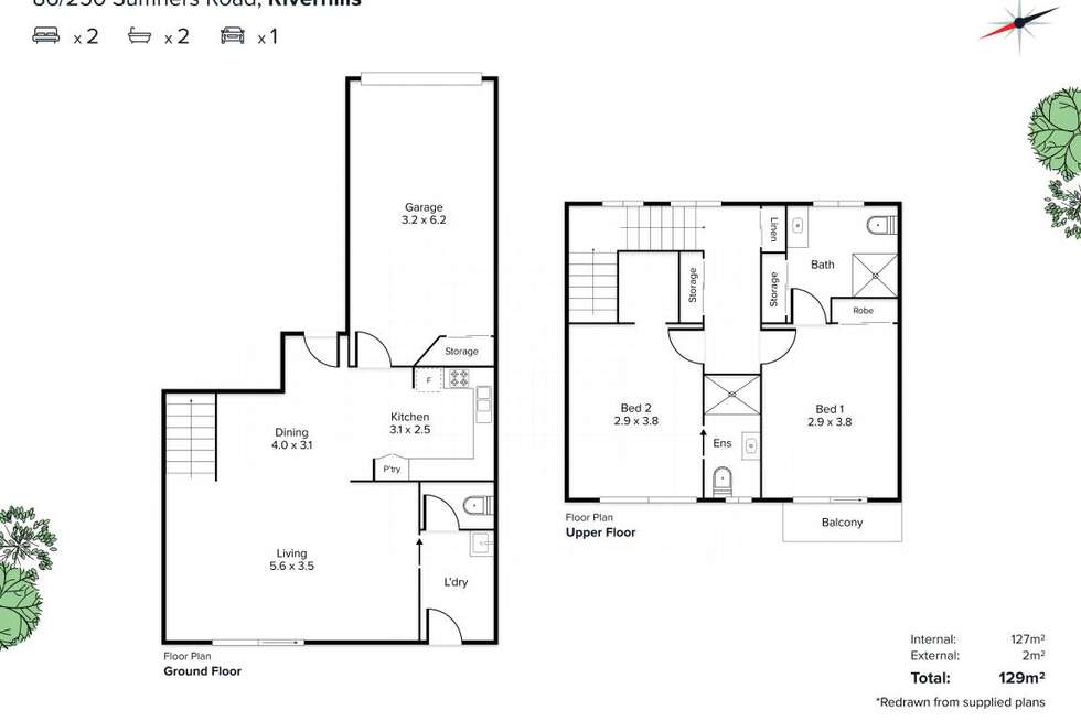 Floorplan of Homely townhouse listing, 86/250 Sumners Road, Riverhills QLD 4074