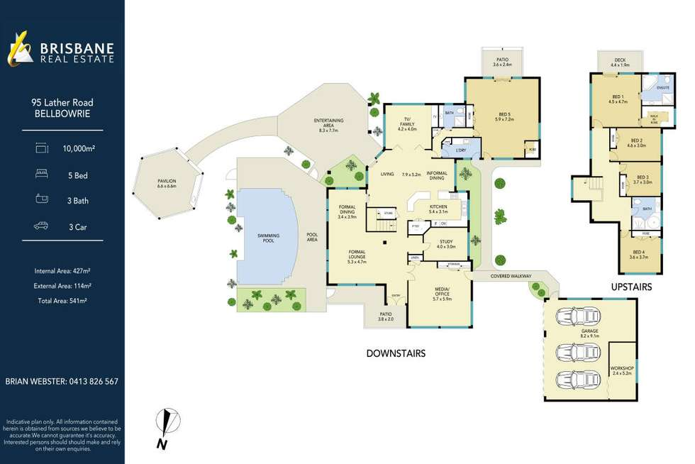 Floorplan of Homely acreageSemiRural listing, 95 Lather Road, Bellbowrie QLD 4070