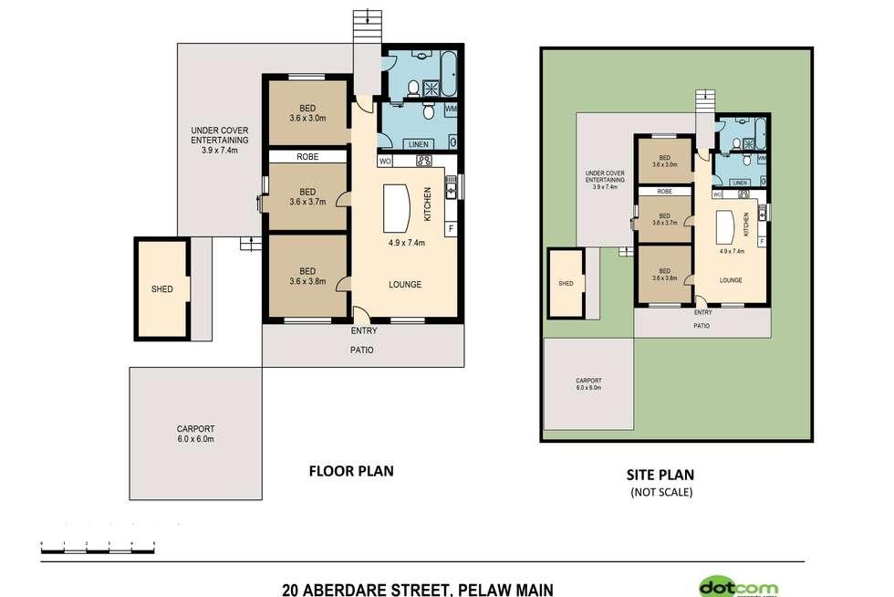 Floorplan of Homely house listing, 20 Aberdare Street, Pelaw Main NSW 2327