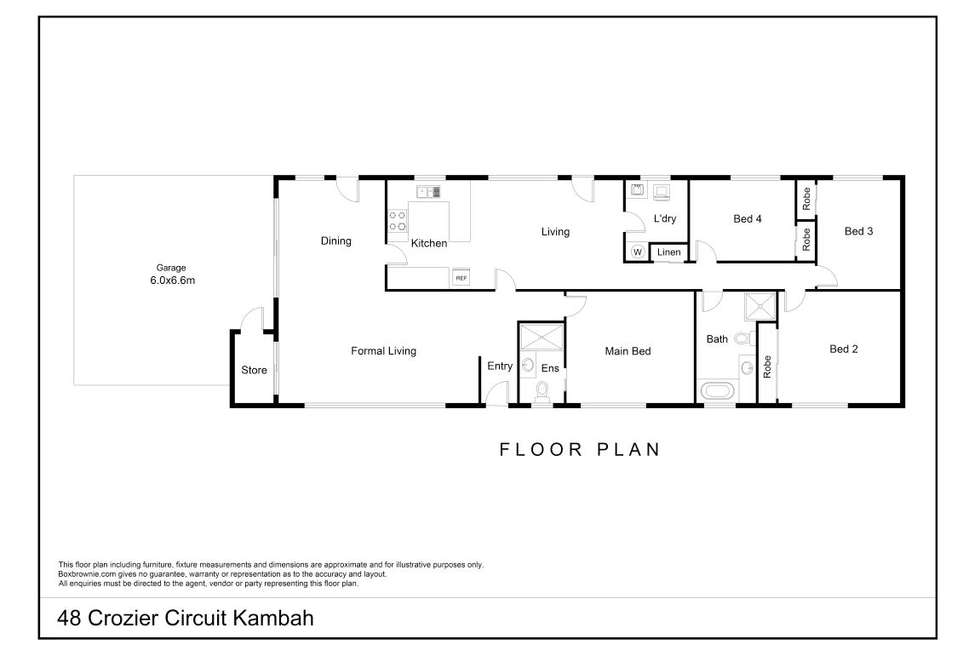 Floorplan of Homely house listing, 48 Crozier Circuit, Kambah ACT 2902